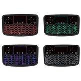 A36 2.4G sem fio de quatro cores retroiluminado QWERTY Mini teclado Touchpad Airmouse para TV Caixa Mini PC