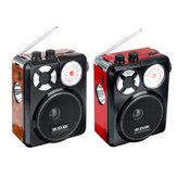 Bakeey 3,5 mm AUX Full Band Wysoka czułość Radio AM AM U Dysk TF SD Przenośny odtwarzacz z latarką Akumulator