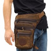 Men's Canvas Travel Hiking Motorcycle Riding Belt Waist Thigh Leg Bag Pack Pouch