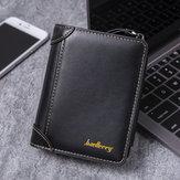 Carteira Baellerry Men Faux Leather Causal Business Zipper Coin