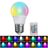Dimmable 3W 5W 10W 15W RGBW 16 Colors E27 LED Light Bulb Indoor Lamp With 24 Key Remote Control 85-265V