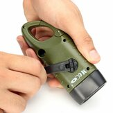 MECO Hand Crank Solar Power Energy Rechargeable LED Flashlight For Camping Hiking