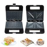 220V 750W бытовой электрический сэндвич вафельница машина завтрак хлебопека