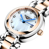 GUANQIN GS19140 Pearl Dial Elegant Design Ladies Wrist Watch