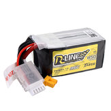 Tattu R-Line V1.0 14.8V 850mAh 95C 4S1P Lipo Battery XT30 Plug for RC Racing Drone