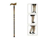 90cm Wooden Walking Stick Wood Cane Pole Carved Varnished Sturdy Climbing Sticks