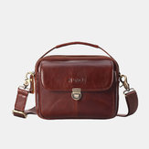 Men Genuine Leather Small Crossbody Bag Handbag
