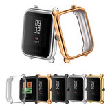 TPU Watch Case Cover Metal Texture Design Watch Cover for Amazfit Bip Lite