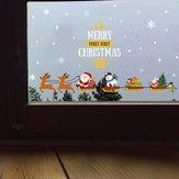 Miico SK6077 Decorazione natalizia per camera rimovibile con adesivo da parete per cartoni animati