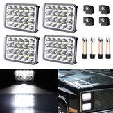 AMBOTHER 4PCS 4x6 Inch Rectangular LED Headlights Bulb 12V 6000K White H4651 H4652 H4656 H4666 H6545