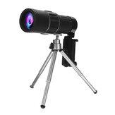 Telescopio monocular 40X60 al aire libre cámping Senderismo Viajar Gran angular HD Monocular de visión nocturna con trípode + Clip