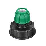 S60x6 1/2 '' 3/4 '' 1 '' IBC Переходник для слива бака Резьба Выходная вода из-под крана Коннектор Запасной зеленый шаровой клапан PP Детал