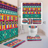 3PCS Bathroom Set Toilet Cover Mat Non-Slip Rug Pedestal Rug Floor Carpet Home Decor