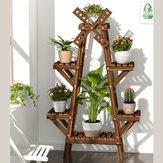 Vaso de flores de madeira Prateleira Prateleira Rack de várias camadas Piso de madeira maciça Vida interna