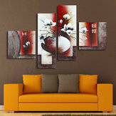 4pcs Flower Vase Prints Paintings Picture Unframed Wall Hanging Home Decor