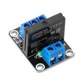 1 canal 5V relais à semi-conducteurs déclencheur de haut niveau CC-AC PCB SSR In 5VDC Out 240V AC 2A