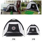 Para Crianças / Adulto 1M/3M Dobrável Golfe Golfe Net Gaiola de Condução Tenda Prática Indoor Outdoor Golf Trainer