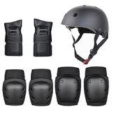 7PCS خوذة + دعم اليد + دعم الركبة + الكوع دعم مجموعة في الهواء الطلق ركوب خوذة سكوتر خوذة توازن الدراجة خوذة مجموعة