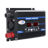1200W Peak Car Power Inverter DC 12V to AC 110V 220V Dual USB Modified Sine Wave Converter With LED Screen