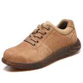 Leather Steel Toe Soft Puncture Proof Sole Safety Work Shoes