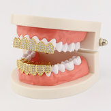 Banhado a ouro Diamond Stand Grillz Teeth Jewelry