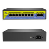 Hiseeu POE-X1010B 48V 10 Ports POE Switch with Ethernet 10/100Mbps IEEE 802.3 for IP CCTV Security Camera System