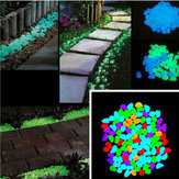 100Pcs/Set Luminous Glow Pebble Stones Aquarium Garden Walkway Rock Home Decorations