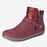 Botas de tornozelo quentes resistentes ao deslizamento de costura