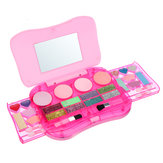 Princess Makeup Set Toys for Kids Cosmetic Girls Kit Eyeshadow Lip Gloss Blushes