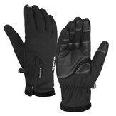 Windproof Motorcycle Touch Screen Gloves Thermal Warm Anti-Slip Breathable Black Zipper