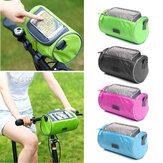 BIKIGHT 22cmx12cmx12cm Водонепроницаемы Экран Touchable Велоспорт Pannier Трубка GPS Сотовый мобильный телефон Сумки рама велосипеда Сумка для горного велос