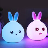 DecBest Cute Night Light Coelho Touch Color Change USB Charging LED Lamp Home Decor