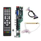 T.SK106A.03 Universele LCD LED TV Controller Driver Board TV / PC / VGA / HDMI / USB + 7 Key Button + 2ch 8bit 30 LVDS Kabel