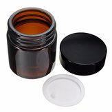 120ml Amber Glass Jar Bottles With Black Lid For DIY Cosmetics Candles Spices