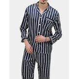 Stripes Printing Pajamas Sets