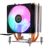 3Pin 1 Ventiladores 4 Heatpipes Colorful Backlit CPU Cooler Dissipador de calor do ventilador para Intel LGA 775/1150/1151/1155/1156/1366