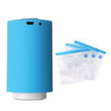 Portable Mini Electric Vacuum Sealer Air Pump USB Rechargeable Automatic Food Clothes Sealing Packaging Machine With 5 Bags