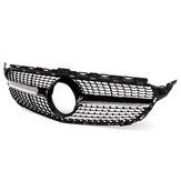 Diamond Black Front Grille Grill For Mercedes-Benz W205 C Class C200 C250 C300 15-18