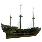 New 1:50 DIY Black Pearl Ship Model Building Kits for Pirates of the Caribbean DIY Set Kits Assembly Toy Boat