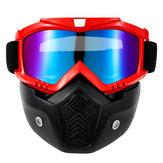 Masque de masque de moto TPU + PC coupe-vent