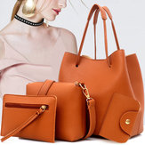 Women Leather Handbag Shoulder Bucket Bag Messenger Satchel Evening Tote