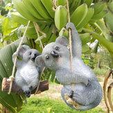 Niedlicher Koala-hängende Schwingen-Baum-Verzierungs-Figürchen-Statuen-Garten-Skulptur-Geschenk-Dekorationen
