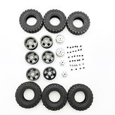 4X4 Rear Double RC Car Wheel For 1/16 WPL B14 B24 JJRC Q61 Military Truck Vehicle Models