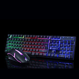 GTX300 104 Tombol RGB Backlight Superthin Gaming Keyboard dan 2.4GHz 1200DPI 3 tombol USB Optical Gaming Mouse