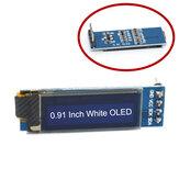 0,91 Inch 128x32 IIC I2C OLED blanco Pantalla Módulo SSD1306 Controlador IIC DC 3,3 V 5V