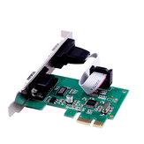 SSU PCI-E 2S Carte de port série PCI-E Carte d'extension COM à 9 broches