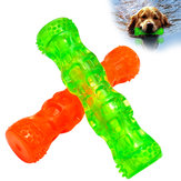 Rubber Dog Toys Bone Waterproof Squeak Sound Pet Toys Bite Resistant For Training Tooth Clean Interactive Pet Dog Chew Toy From