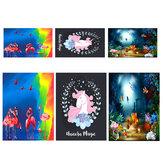 3x5FT 8x10FT Flamingo Fisch Einhorn Tiere Fotografie Hintergrund Studio Prop Hintergrund