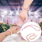 Handmade Natural Pink Queen Conch Shells Round Beads Stretch Bracelet 6mm / 8mm