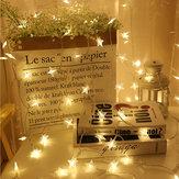 Stella a cinque punte alimentata a batteria LED String Light Christmas Fairy Curtain Light per la decorazione del partito a casa